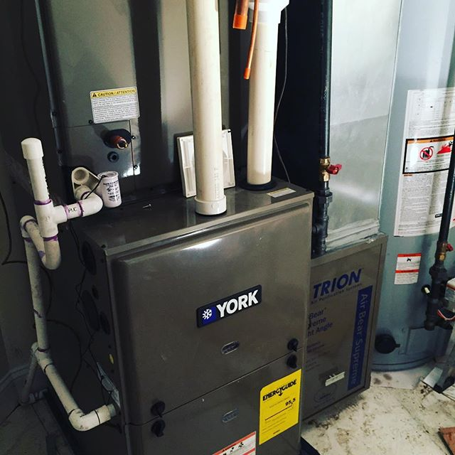 New York ECM motor, TRION media air cleaner, Springfield NJ #yorkhvac #yorkinternational #ecmmotor #