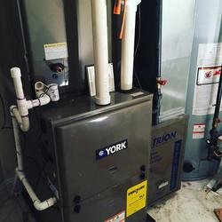 New York ECM motor, TRION media air cleaner, Springfield NJ #yorkhvac #yorkinternational #ecmmotor #