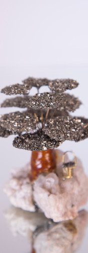 Pyrite Tree on Quartz