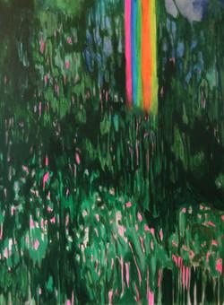 I see a rainbow through the trees_40x30_2015