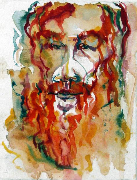 """Apostle, Watercolour, 9"""" X 7"""", n.d."""