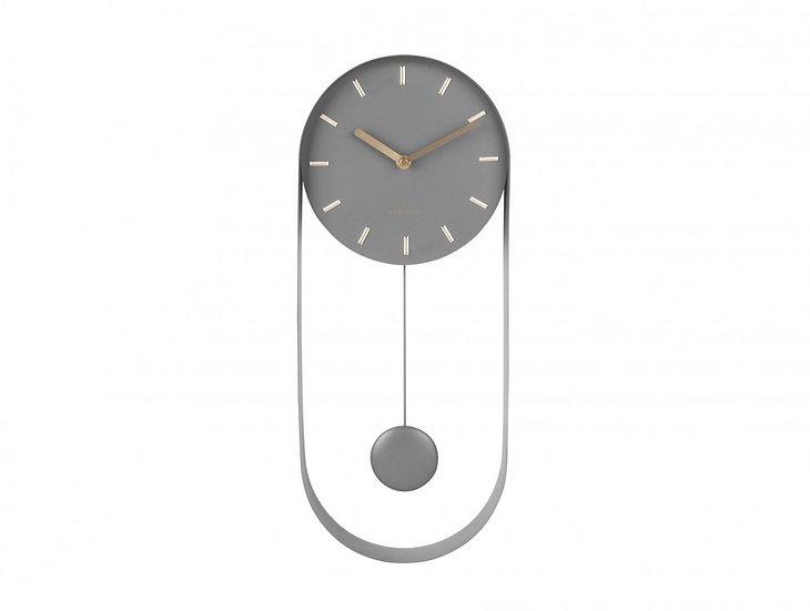 Orologio da parete Pendolo Charm grigio acciaio