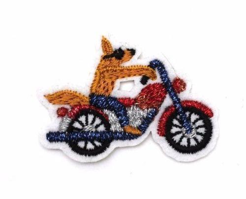 """Toppa termoadesiva """" Coyote motociclista """" + 2 pins Maicon & Lesquoy"""