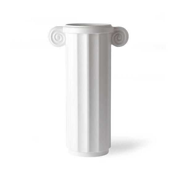 Vaso alto in ceramica bianca HKLIVING