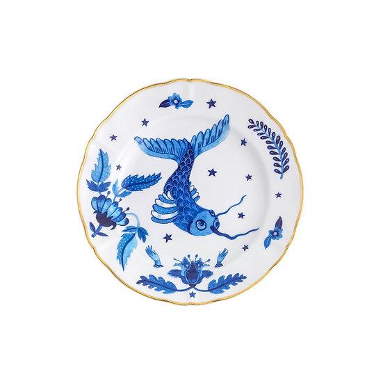 Piatto dessert Pesce blu collezione La tavola scomposta di Bitossi