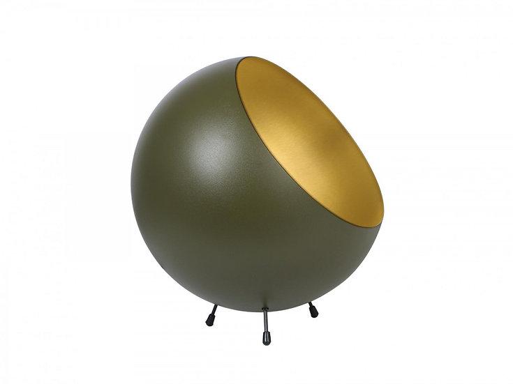 Lampada da tavolo XL Bell in metallo verde muschio opaco