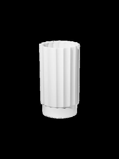 "Vaso colonna bianco "" Art decò ""  in ceramica"