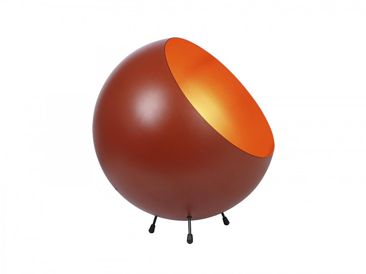 Lampada da tavolo XL Bell in metallo terracotta opaca