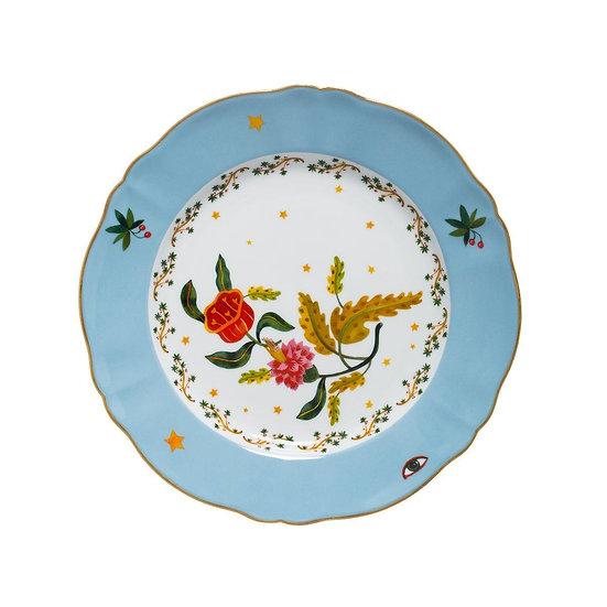 Piatto piano fiore collezione La tavola scomposta di Bitossi