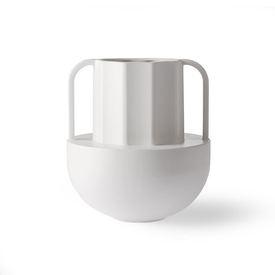 Vaso in ceramica bianca HKLIVING