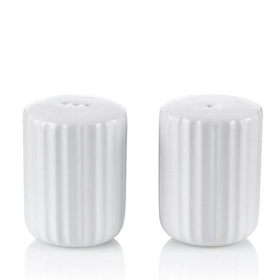 Set sale e pepe in ceramica bianca