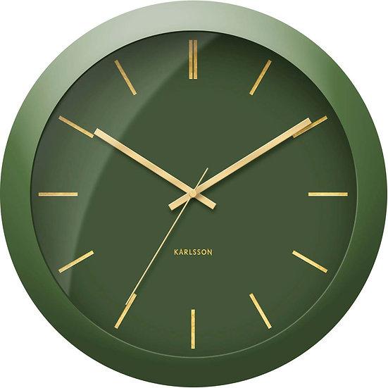 Orologio da parete Globe verde muschio D. 40
