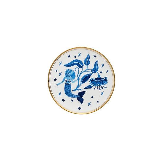 Piattino sirena blu collezione La tavola scomposta di Bitossi