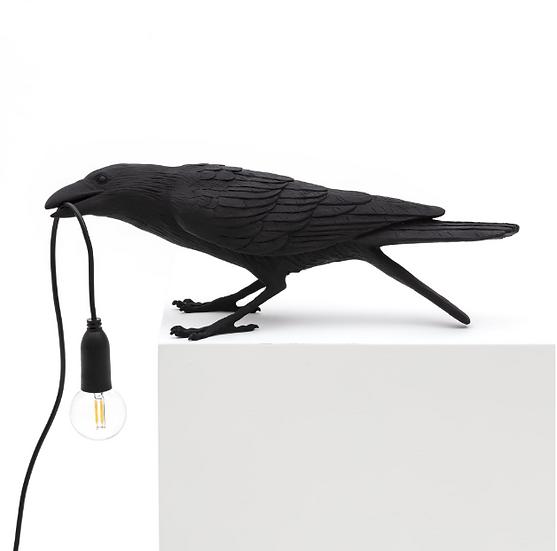 """Lampada  """" Bird Lamp Black Playing """" Seletti"""