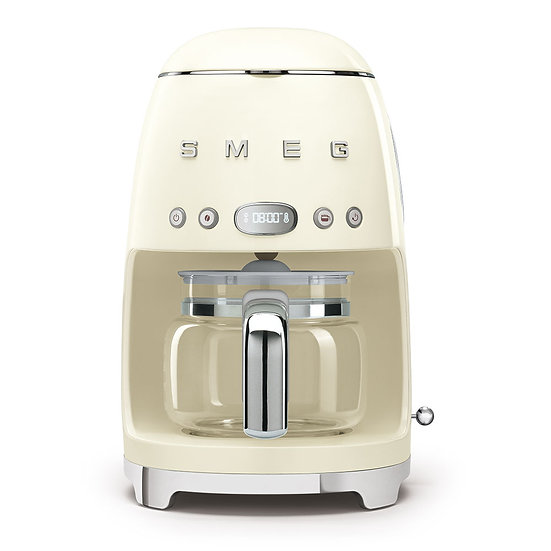 """Macchina per caffè con filtro """" Estetica anni 50"""" Smeg panna"""