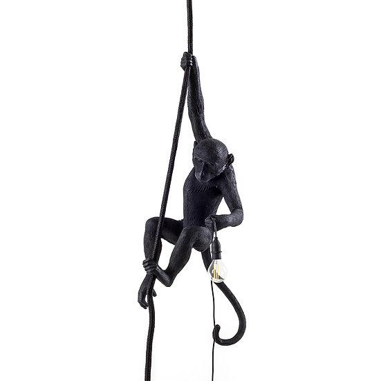 """Sospensione """" Monkey lamp black """" di Marcantonio per Seletti"""