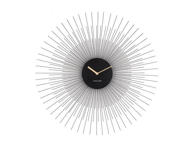 Orologio da parete Peony nero D.60