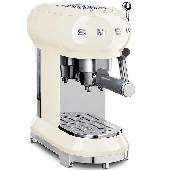 """Macchina caffè espresso """" Estetica anni 50"""" Panna Smeg"""