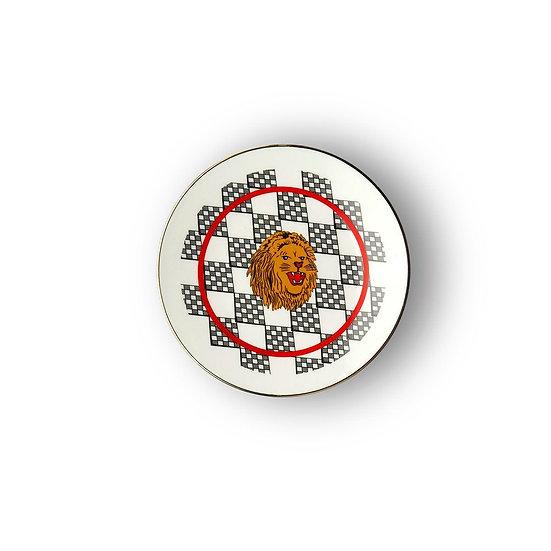 Piattino leone collezione Bel paese di Bitossi
