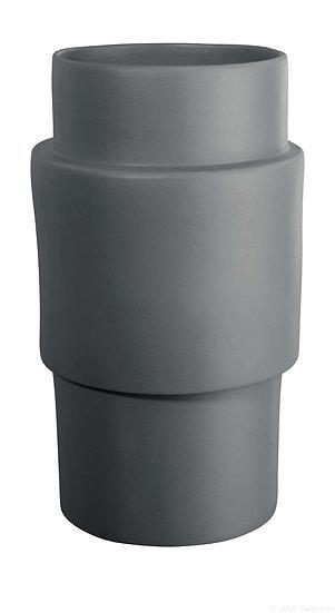 "Vaso cilindro "" Centric ""  in ceramica grigio"