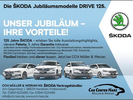 Unser Jubiläum - Ihre Vorteile. Die ŠKODA Jubiläumsmodelle DRIVE 125.