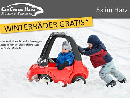 Bis zum 29.02.2020: Winterräder gratis! Für viele Renault-Neuwagen.