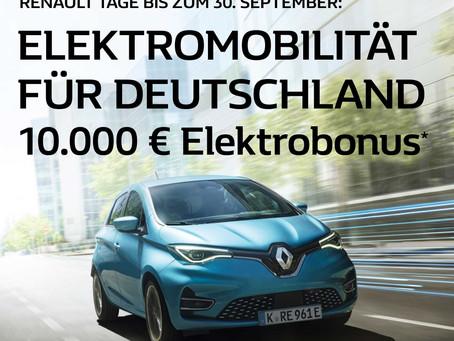 Elektromobilität für Deutschland jetzt informieren.