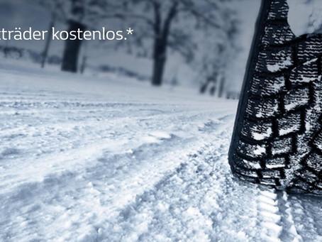 Jetzt kostenlose Winterkompletträder sichern! Nur noch bis zum 28.02.2019!