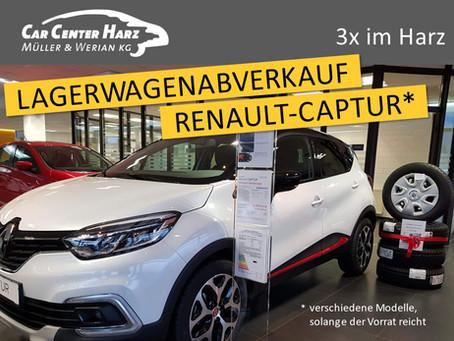 Lagerwagenabverkauf: Renault CAPTUR. So lange der Vorrat reicht.