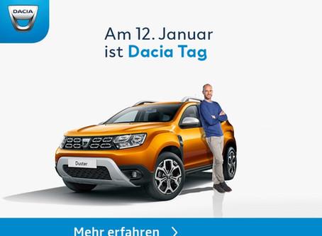 Besuchen Sie uns! Am 12.01.2019, zum Dacia Tag!
