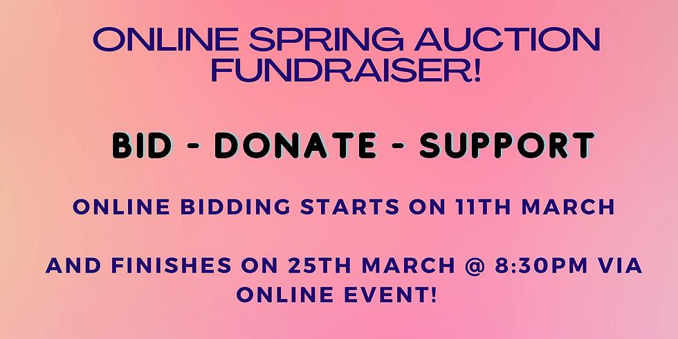 Online Spring Auction Fundraiser