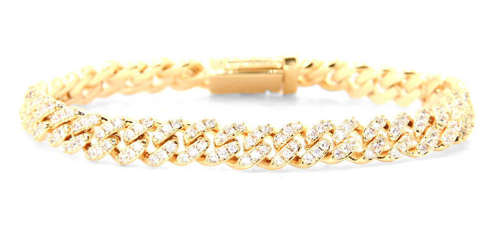 FULL ICED CUBAN LINK 6.5 MM GOLD