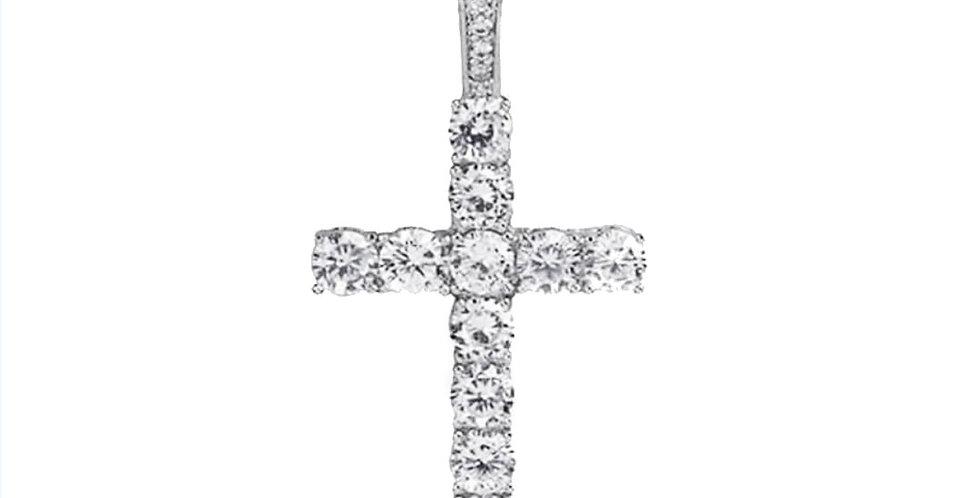 Crucifix sertie