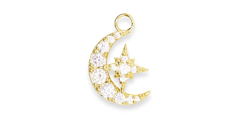 Lueur - Croissant de lune étincelant d'or