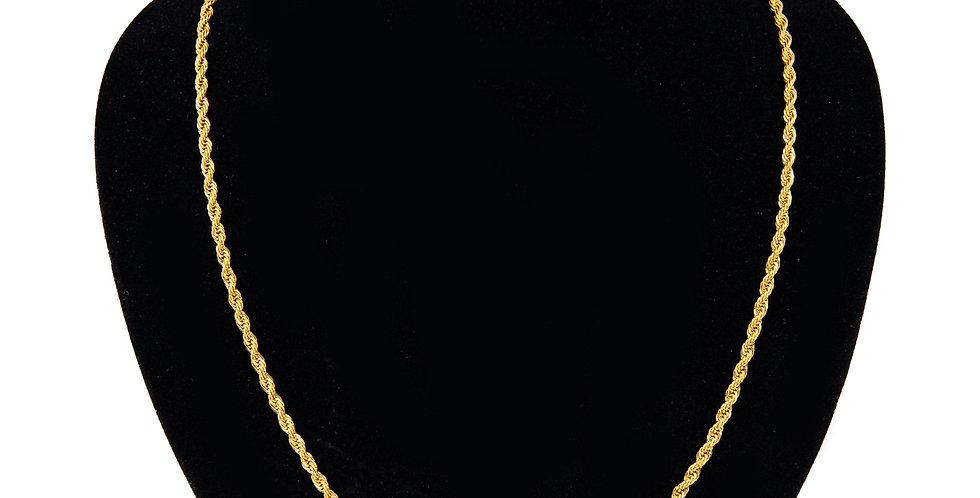 ROPE CHAIN GOLD 3MM