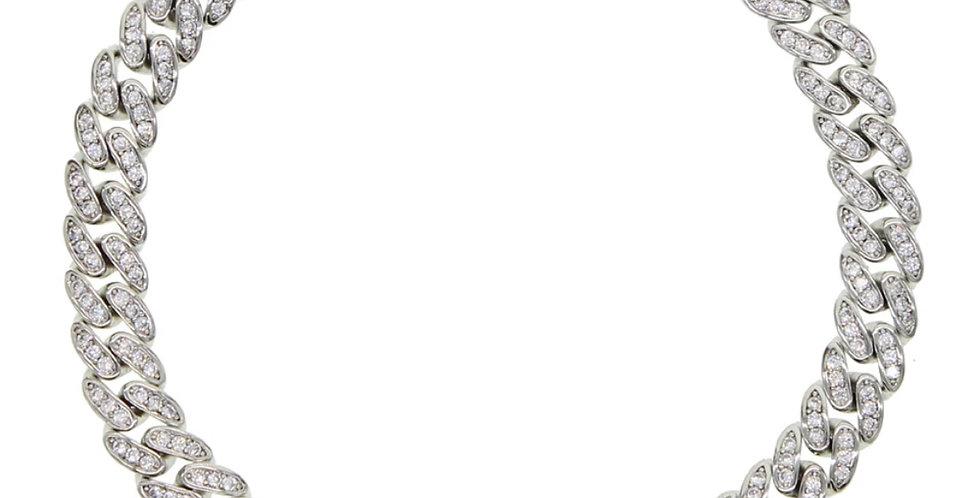 FULL ICED CUBAN LINK 6.5 MM SILVER