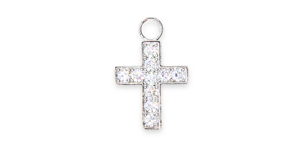 Lueur - Crucifix argentée