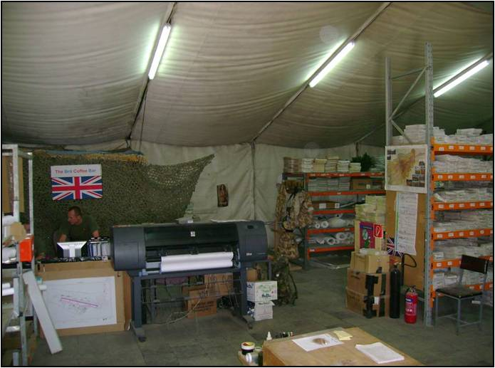 Map Depot in Iraq