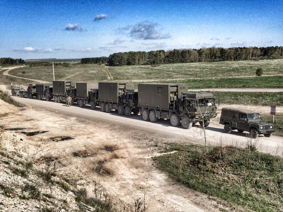 Convoy on exercise