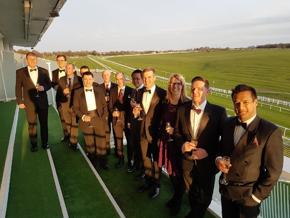Social event at Epsom racecourse