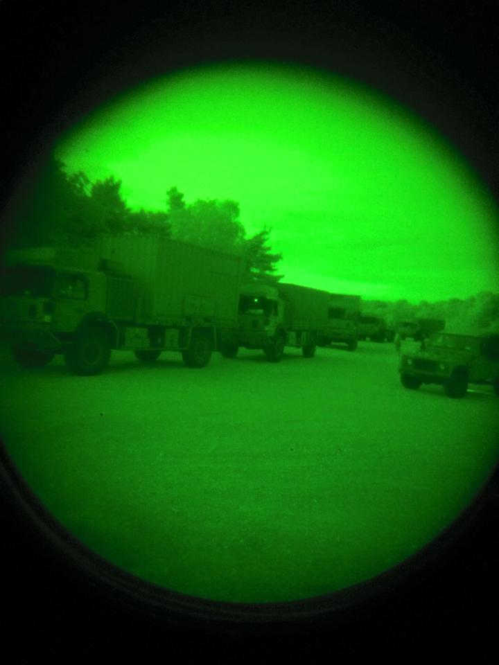 Night driving with NVGs