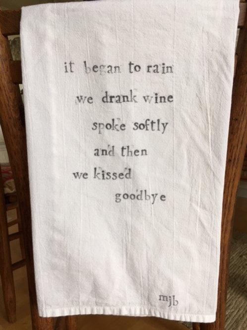 Visiting Friends Towel