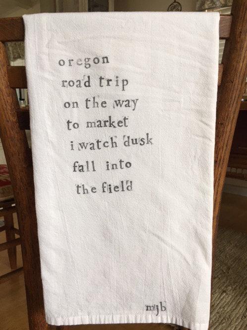 Oregon Road Trip Towel