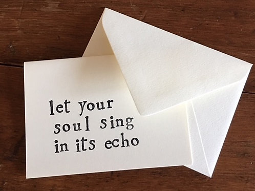 Sing in Echo Card
