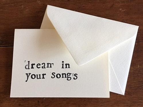 Dream in Songs Card