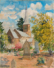St John's Church 'St John's Church in Spring', by Ethel Carrick (Fox) who was born in 1872