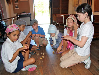 children at Schoolhouse Museum Canberra