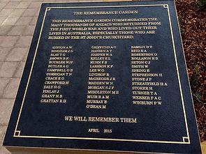 Remembrance Garden Reid Canberra