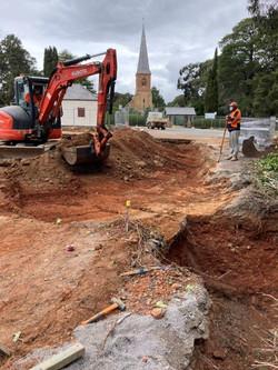 13 Oct - New drain excavator works