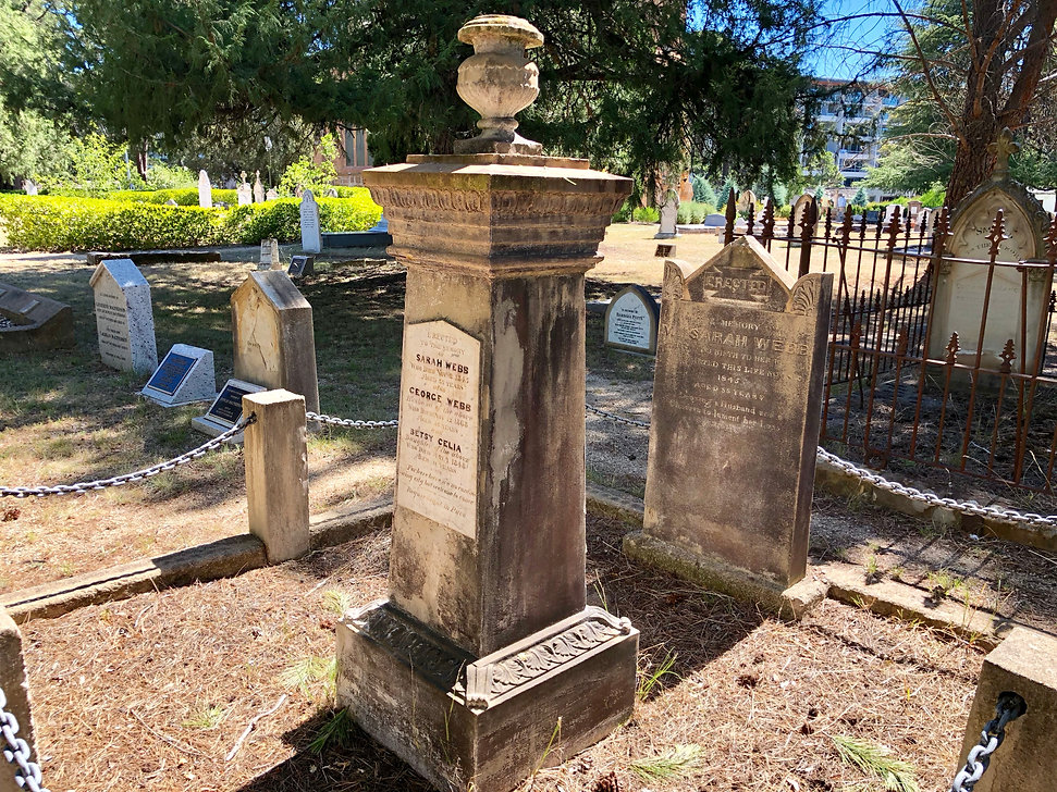 Sarah Webb Tombstone Canberra